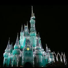 Cinderella Castle on Christmas Night 2011