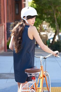 3 Easy Hairstyles Perfect For Biking To Work #refinery29  http://www.refinery29.com/bicycle-helmet-hairstyles#slide-1  The Half-Up And Braided DoThe wind doesn't stand a chance with this easy to execute, half-up braided look. Your braids sit firmly underneath the helmet, without getting messed up, while the rest of your locks are free to blow in the breeze.Electra Loft 3i in Mango, $599.99, available at Electra and locally at San Francyclo, 746 Arguello Boulevard.Bern Lenox Helmet, $60…
