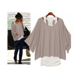TOP Shirt Bluse Poncho +...