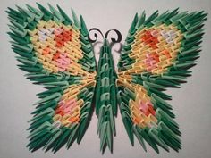 Etsy の 3D origami butterfly magnet 2 by akvees