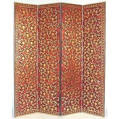 Charming Tall Golden Vine Screen   OrientalFurniture.com