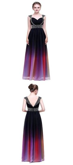 A-Line Sweetheart Cap Sleeves Beaded Chiffon Long Evening Prom Dresses – VeryProm Affordable Prom Dresses, A Line Prom Dresses, Mermaid Evening Dresses, Prom Dresses Online, Cheap Prom Dresses, Dresses For Teens, Homecoming Dresses, Sexy Dresses, Bridesmaid Dresses