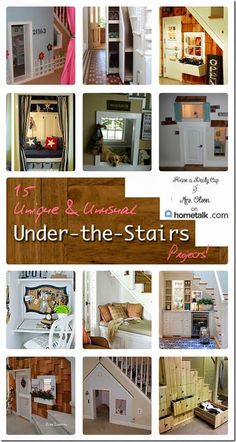 15 Beautiful & Creative Under the Stairs Projects For Your Home !