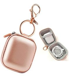 Airpods Case Keychain, AirPod Charging Protective Case, Earbud Case, PU Leather Hard case, Portable Carrying Case with Metal Clasp and Keychain Compatible with Apple AirPods Bluetooth Earphone – Best Accessories Accessoires Iphone, Earphone Case, Accesorios Casual, Airpod Case, Iphone Accessories, Apple Watch Accessories, Coque Iphone, Protective Cases, Cool Things To Buy
