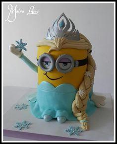 Minion Elsa - Cake by Maira Liboa