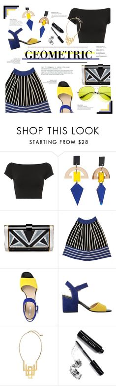 """""""Geometric"""" by just-a-girl-with-thoughts ❤ liked on Polyvore featuring Helmut Lang, Toolally, Edie Parker, Knitss, Geox, Ink + Alloy and Bobbi Brown Cosmetics"""