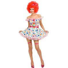 Ladies Clown Costume