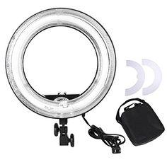 "AW Professional 14"" Dimmable Ring Light 45W Fluorescent Photo Video Studio Portrait Light 5500K w/Bag | SkoolDealz"