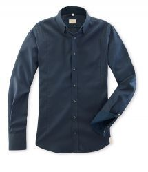 Q1 Hemd RONNY in Nachtblauem Twill in 100% Baumwolle Shirt Dress, Mens Tops, Shirts, Shopping, Dresses, Fashion, Fall Winter, Cotton, Vestidos