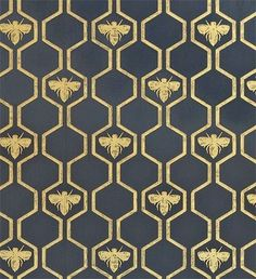 Wallpaper Honey Bees Wallpaper An impressive wallpaper in charcoal with a honeycombe and bee design in gold.Honey Bees Wallpaper An impressive wallpaper in charcoal with a honeycombe and bee design in gold. Of Wallpaper, Designer Wallpaper, Honeycomb Wallpaper, Pattern Wallpaper, Wallpaper Backgrounds, Charcoal Wallpaper, Floral Wallpapers, Interior Wallpaper, Metallic Wallpaper