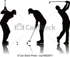 angry + golfer + clip art silhouette - Google Search Psych, Silhouettes, Youth, Golf, Clip Art, Stock Photos, Google Search, Drawings, Room