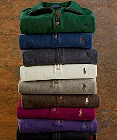 Polo Ralph Lauren French Rib Half-Zip Pullover Can I just have all of them?!
