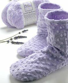Sonoma Lavender Spa Bootie Dot by Sonoma. Save 16 Off!. $38.00. Removable insert of flaxseed and lavender. Soft, washable covers.. Just what you need to relax, recharge and revitalize. Get the spa treatment in the comfort of your own home.. This beautiful solid lavender with dots spa bootie is perfectly designed to soothe tired feet. Pop in the microwave for an aromatic, moist heat that soothes and increases circulation while the lavender aromatherapy relaxes. This material is...