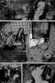 Manga Art, Manga Anime, Anime Art, Yandere Manga, Aesthetic Art, Aesthetic Anime, Comic Style, Arte Indie, Japanese Horror