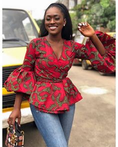 Linda Osifo is pretty much a stunner when it comes to fashion especially in African print dress styles. I have compiled african print styles that have been worn African Fashion Ankara, Ghanaian Fashion, Latest African Fashion Dresses, African Print Fashion, Africa Fashion, African Style Clothing, African Women Fashion, African Print Peplum Top, Ankara Peplum Tops