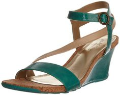 Kenneth Cole REACTION Women's Cedar Crush PA Wedge Sandal,Light Teal,5 M US
