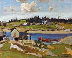 MacDonald Nova Scotia Cove It could be Peggy's Cover or many other little nooks. Nova Scotia is a lovely place. Emily Carr, Canadian Painters, Canadian Artists, Group Of Seven Paintings, Tom Thomson Paintings, National Art, Art Graphique, Cool Landscapes, Nova Scotia
