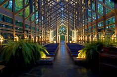 Awe-Inspiring Architecture: Thorncrown Chapel in Eureka Springs was named among the top four buildings of the 20th century by the American Institute of Architects.