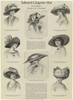 tailored hats