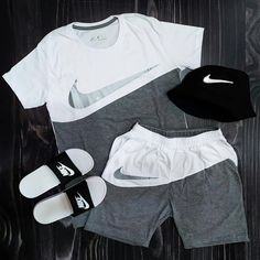 Swag Outfits Men, Nike Outfits, Cool Outfits, Summer Outfits, Casual Outfits, Men Casual, Boys Designer Clothes, Best T Shirt Designs, Urban Outfits