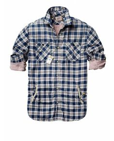 Bonded shirt in different checks - Shirts - Official Scotch & Soda Online Fashion & Apparel Shops
