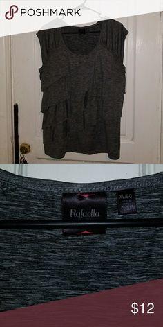 Grey  rafaella blouse Sleeveless grey blouse Rafaella Tops Blouses
