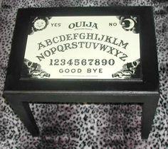 SO NEAT!  -And it glows in the dark! XD Glow In The Dark Ouija Board Table