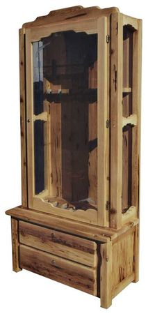 This gun cabinet would be gorgeous in my den!