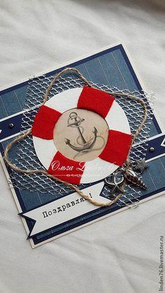 """Купить открытка""""Морское путишествие"""" - подарок мужчине, открытка на день рождения, открытка для мужчины, с днем рождения"""