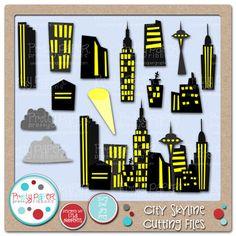 Pretty Paper, Pretty Ribbons City Skyline Cutting Files