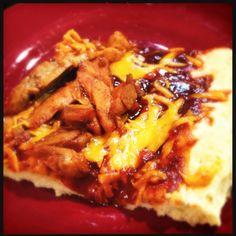 Emergency BBQ Chicken Pizza - crust has no yeast!