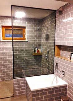 Drzwi Loftowe - Industrialne | Drzwi wewnętrzne - zabudowy szklane - drzwi loft - podłogi Door Mirrors, Diy Home Crafts, Alcove, Bathtub, Loft, Doors, Bathroom, Nice, Furniture