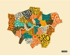 Maps of London, Posters and Prints at Art.com
