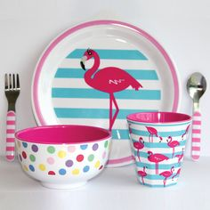 Dinner-time should be fun and this range of melamine dinner-sets will not only be functional but also look stylish on the table!  The set contains a plate, bowl, cup, fork & spoon, the ranges is hard-wearing and durable and wont fade* *Disclaimer: Elephant in the Trunk takes no responsibility for the food fights that these fun designs may cause!  All the Melamine products are: Made of 100% melamine, BPA FREE, Phthalate Free, PVC Free, Dishwasher safe Not suitable for microwave