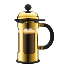 Gold French Press. Love this. I press my coffee every morning but love the touch of luxe it adds!