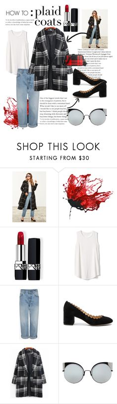 """""""Plaid coats"""" by ashley-andreasen ❤ liked on Polyvore featuring Christian Dior, Gap, Chloé and Fendi"""