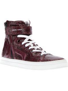 PIERRE HARDY Python Skin Hi-Top Sneakers