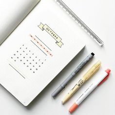 Get Ideas From These Clean Minimal October Bullet Journal Pages – Bullet Journ. - Get Ideas From These Clean Minimal October Bullet Journal Pages – Bullet Journals and BuJo Enthus - Bullet Journal Page, Bullet Journal Themes, Bullet Journal Spread, Bullet Journals, Bujo, Journal Covers, Art Journal Pages, Journal Notebook, Travelers Notebook