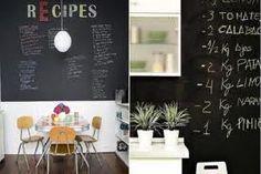 recipes Blackboard Paint, Blackboards, Home Interior Design, Letter Board, Lettering, Recipes, Ideas, Small Condo, Floors