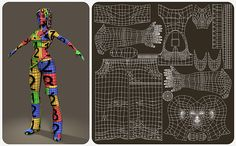 UV Layout of female character that shows good use of 0-1 space and how to lay out all parts of the anatomy