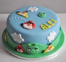 Image result for blue angry birds cake