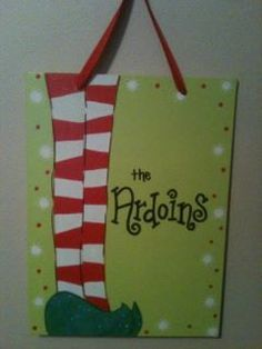 Adorable Elf Christmas Canvas by HeathersLettersNCake on Etsy, $35.00