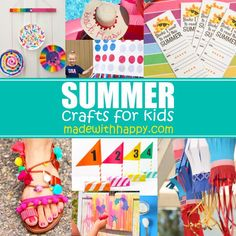 Summer Crafts For Kids - 25+ Crafts and Coloring Pages