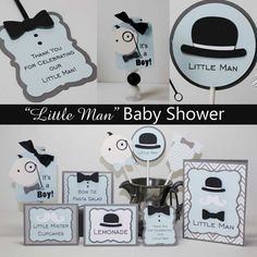 Little Man Baby Shower Invitations First by JillyBearDesigns