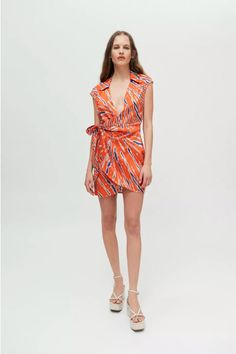 Cap Sleeves, Nice Dresses, Urban Outfitters, Wrap Dress, Mini, Fabric, Shopping, Neckline, Style