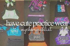 have cute practice wear.