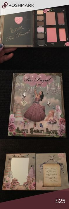 Too Faced Love Sweet Love kit Brand new! Never used! Includes 6 eye shadows, 2 blushes, 2 lip glosses Makeup Eyeshadow