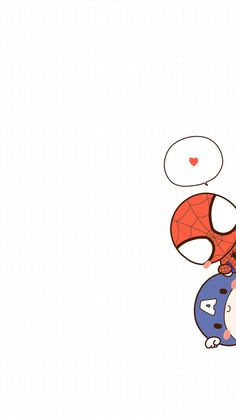 Wallpaper of Spider man & Captain America - Marvel Comics Cute Disney Wallpaper, Cute Cartoon Wallpapers, Cute Wallpaper Backgrounds, Wallpaper Iphone Cute, Captain America Wallpaper, Marvel Drawings, Avengers Wallpaper, Deadpool Wallpaper, Marvel Art