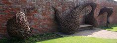 Newstead Abbey wicker sculpture by bob watt, via Flickr