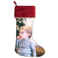 Personalized stocking with photo - Under $20